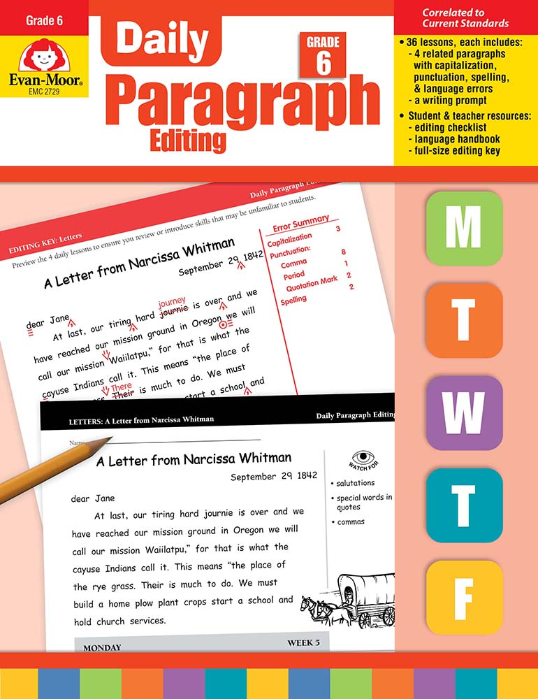 Picture of Daily Paragraph Editing, Grade 6 - Teacher's Edition, Print