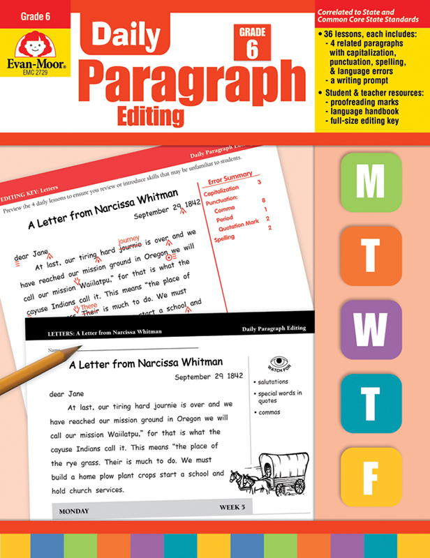 Picture of Daily Paragraph Editing, Grade 6 - Teacher's Edition, E-book