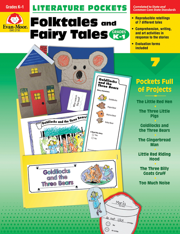 Picture of Literature Pockets: Folktales & Fairy Tales, Grades K-1 - Teacher Reproducibles, E-book