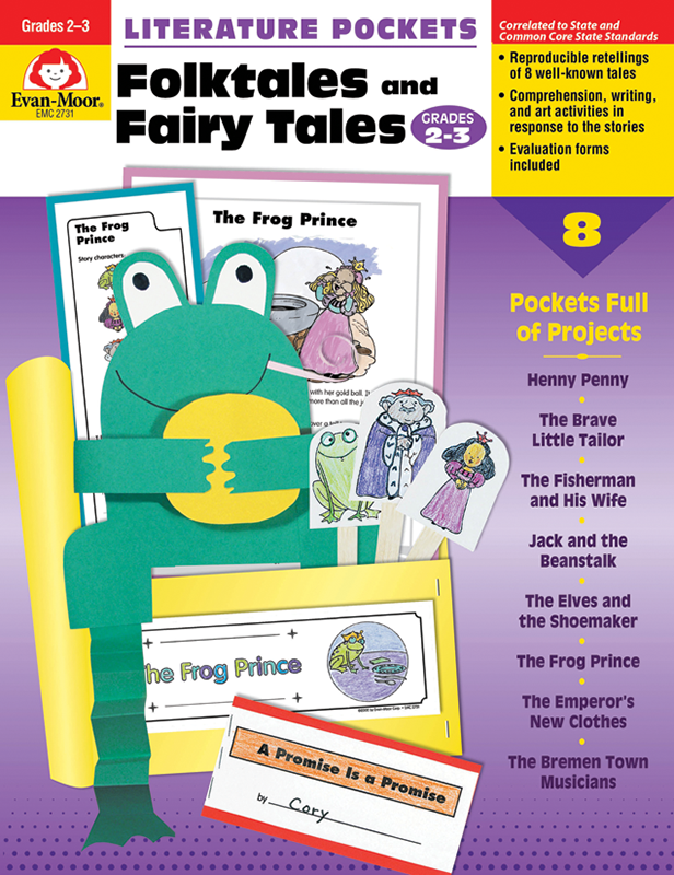 Picture of Literature Pockets: Folktales & Fairy Tales, Grades 2-3 - Teacher Reproducibles, E-book