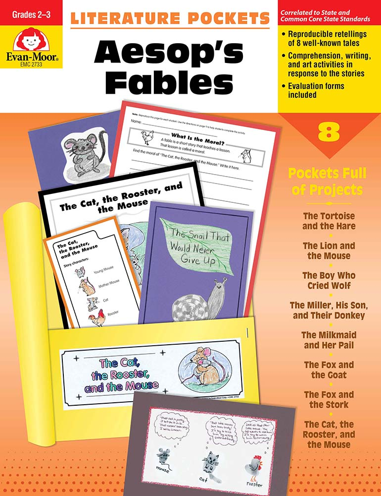 Picture of Literature Pockets: Aesop's Fables, Grades 2-3 - Teacher Reproducibles, Print