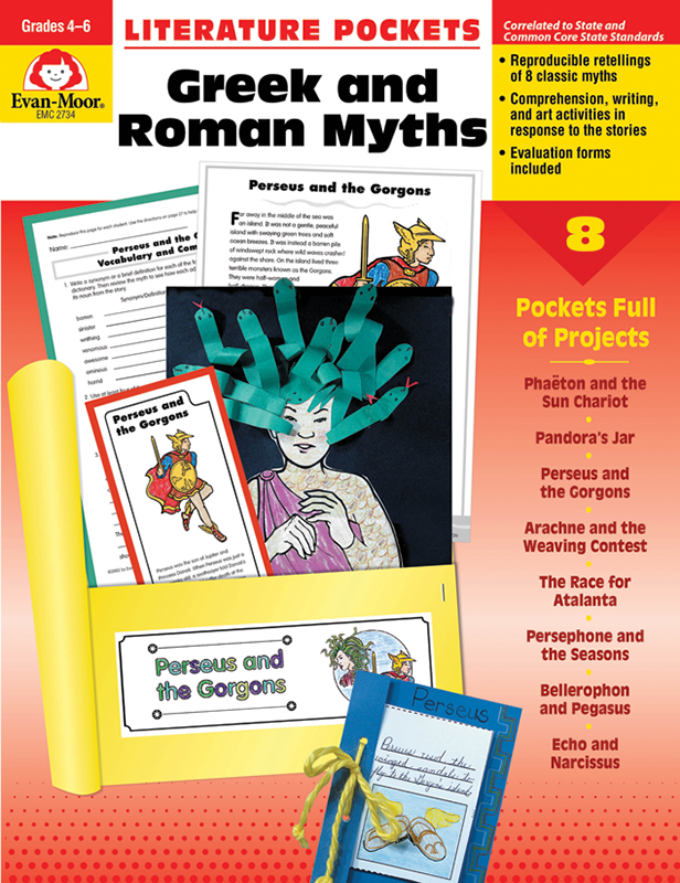 Picture of Literature Pockets: Greek & Roman Myths, Grades 4-6 - Teacher Reproducibles, E-book
