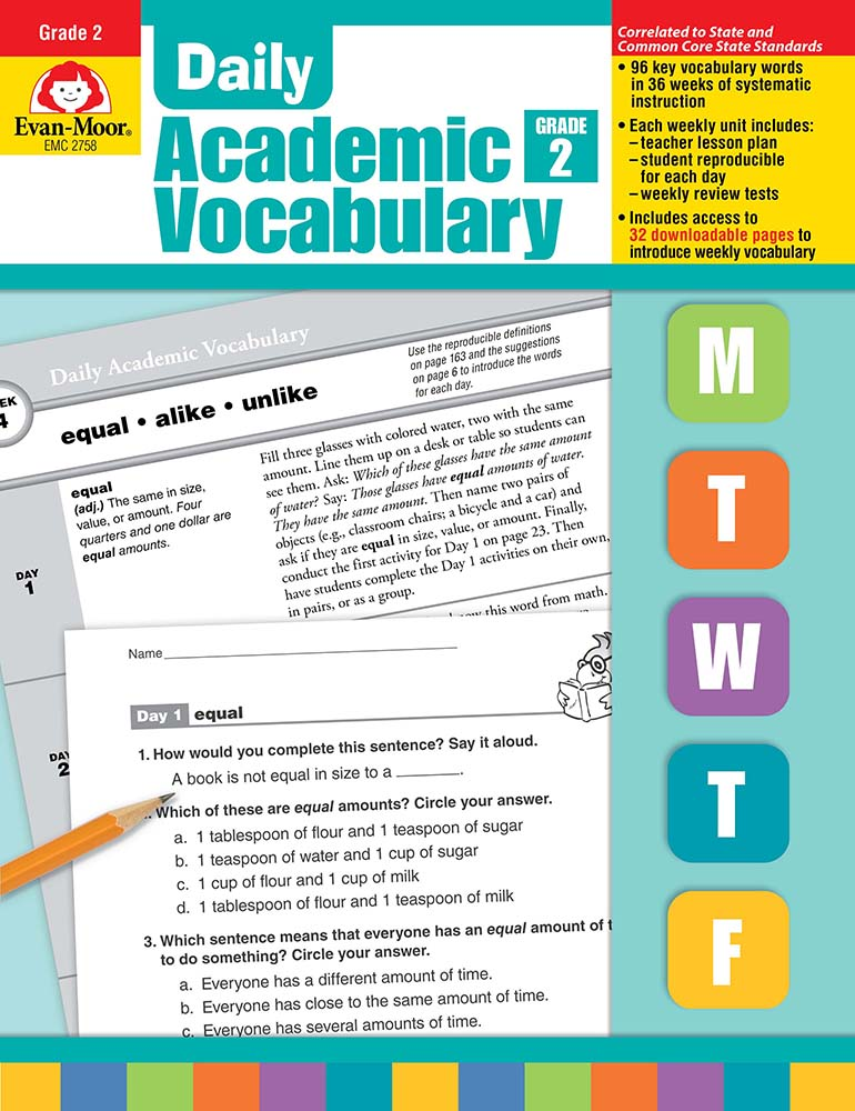 Picture of Daily Academic Vocabulary, Grade 2 - Teacher's Edition