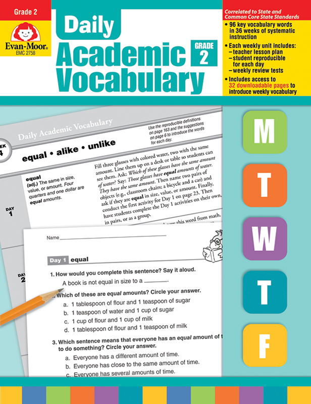 Picture of Daily Academic Vocabulary, Grade 2 - Teacher's Edition, E-book