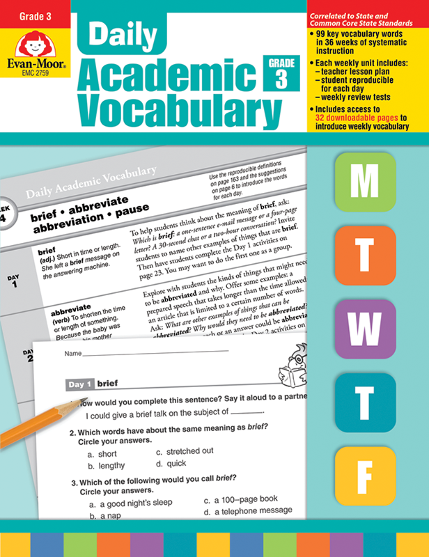 Picture of Daily Academic Vocabulary, Grade 3 - Teacher's Edition, E-book