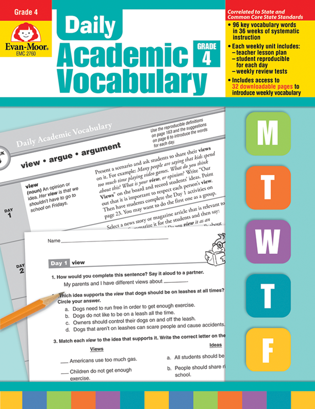 Picture of Daily Academic Vocabulary, Grade 4 - Teacher's Edition, E-book
