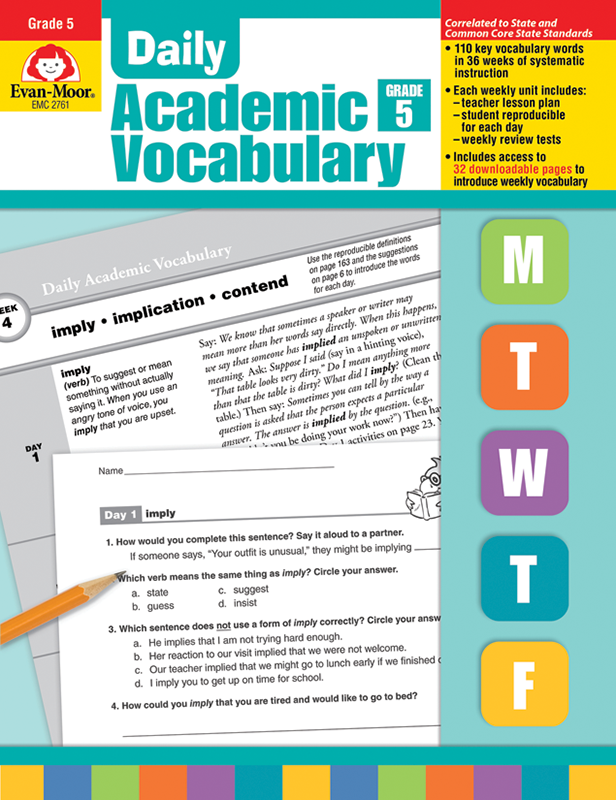 Picture of Daily Academic Vocabulary, Grade 5 - Teacher's Edition, E-book