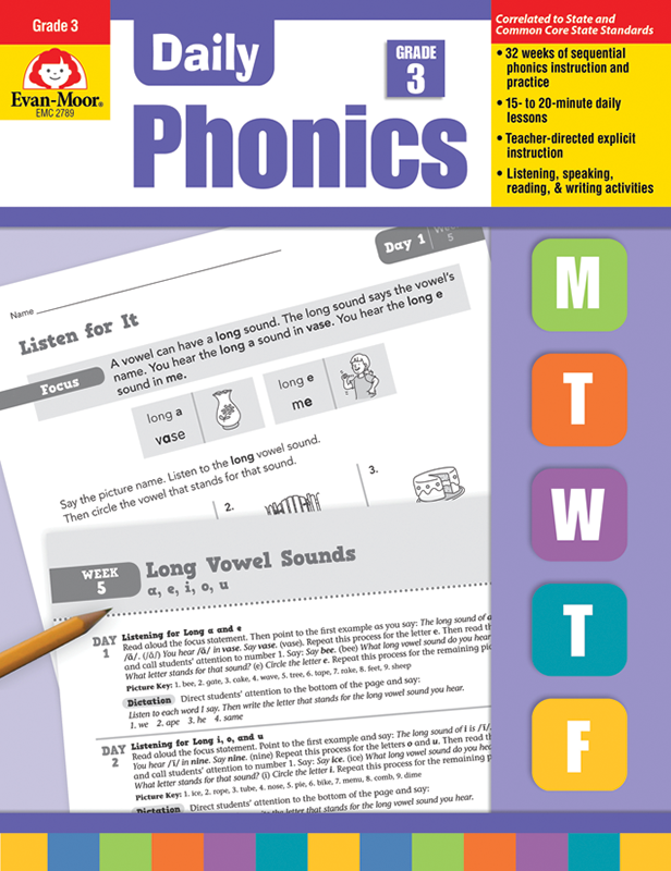 Picture of Daily Phonics, Grade 3 - Teacher's Edition, E-book