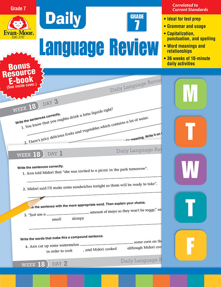 Picture of Daily Language Review, Grade 7 - Teacher's Edition, Print