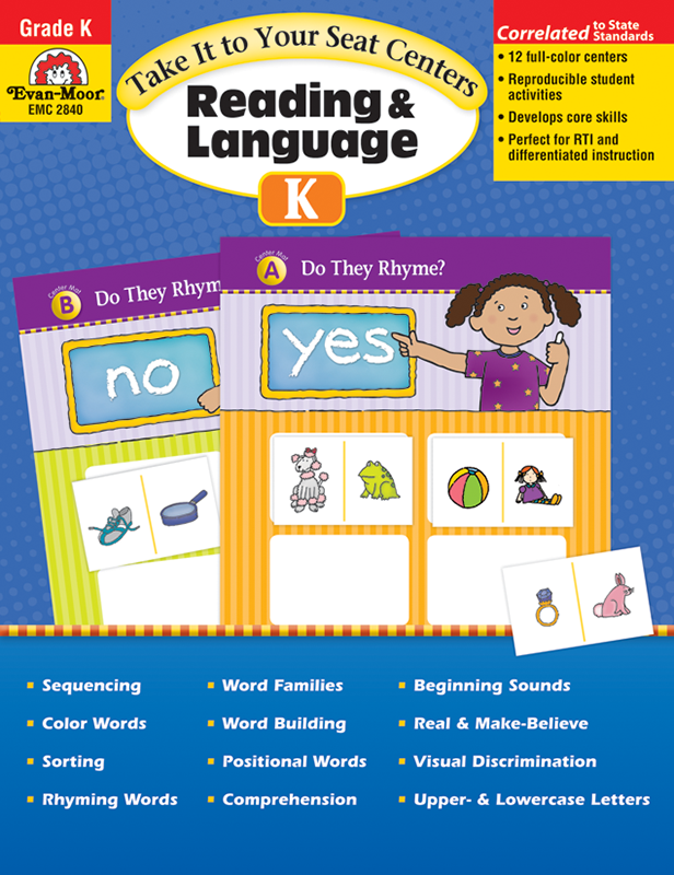 Picture of Take It To Your Seat: Reading and Language Arts Centers, Grade K -Teacher Resource, E-book