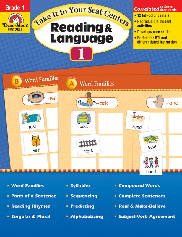 Picture of Take It To Your Seat: Reading and Language Arts Centers, Grade 1 -Teacher Resource, E-book