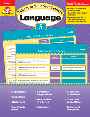 Picture of Take It to Your Seat: Language Centers, Grade 5 - E-book