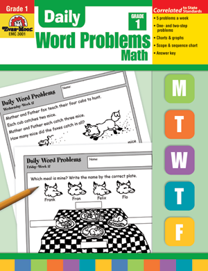 Picture of Daily Word Problems, Grade 1 - Teacher's Edition