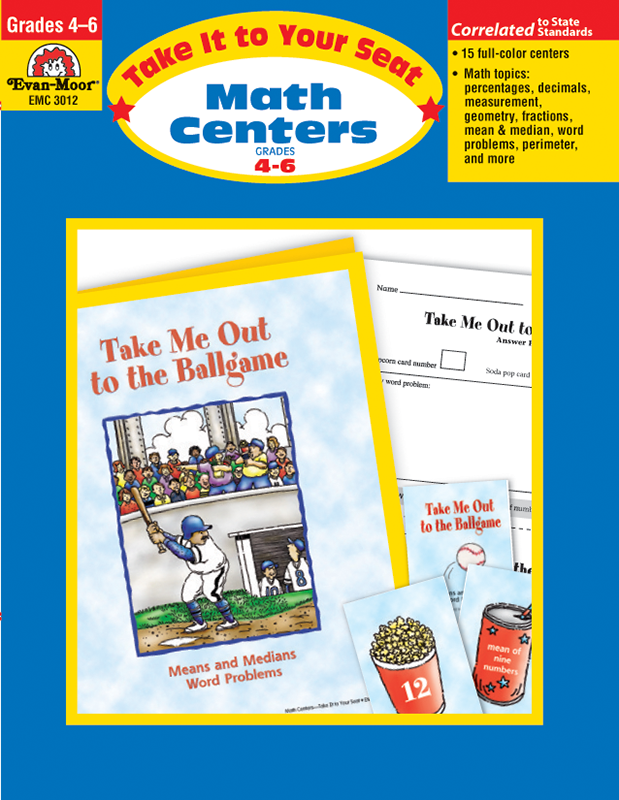 Picture of Take It To Your Seat: Math Centers, Grades 4-6 E-book