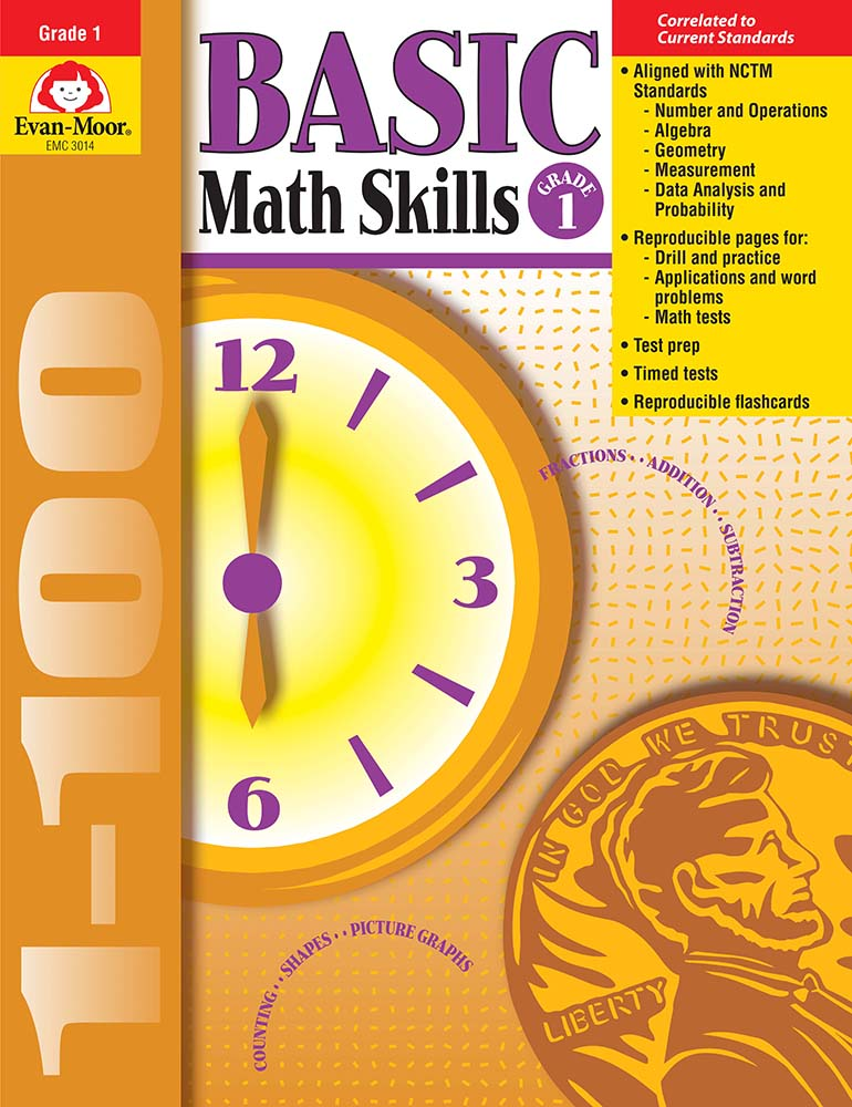 Picture of Basic Math Skills, Grade 1 - Teacher Reproducibles, Print