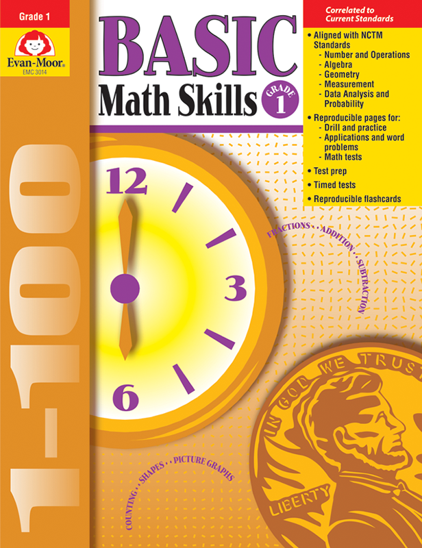 Picture of Basic Math Skills, Grade 1 - Teacher Resource, E-book
