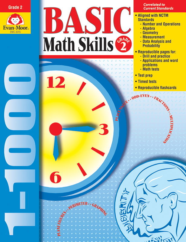 Picture of Basic Math Skills, Grade 2 - Teacher Reproducibles, E-book