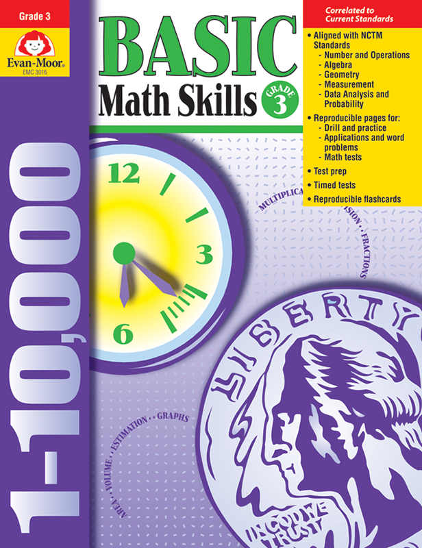 Picture of Basic Math Skills, Grade 3 - Teacher Reproducibles, E-book