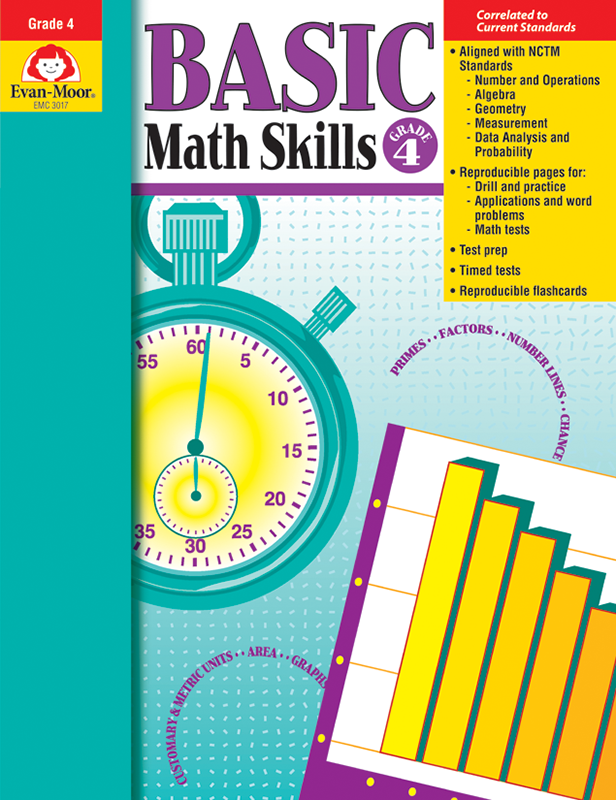 Picture of Basic Math Skills, Grade 4 - Teacher Reproducibles, E-book