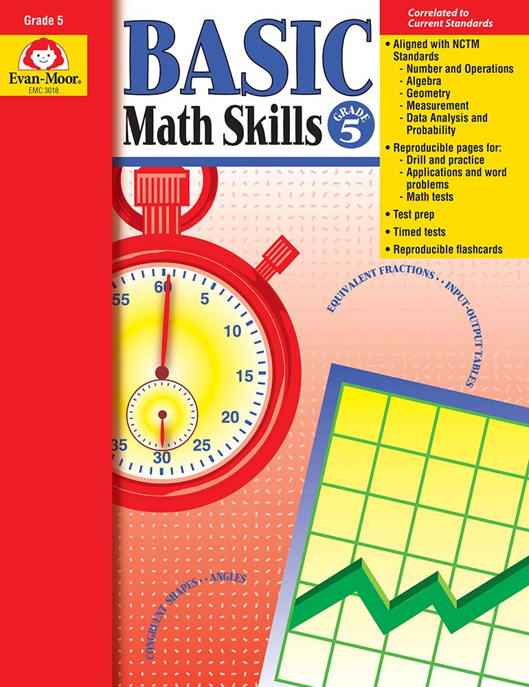 Picture of Basic Math Skills, Grade 5 - Teacher Reproducibles, Print