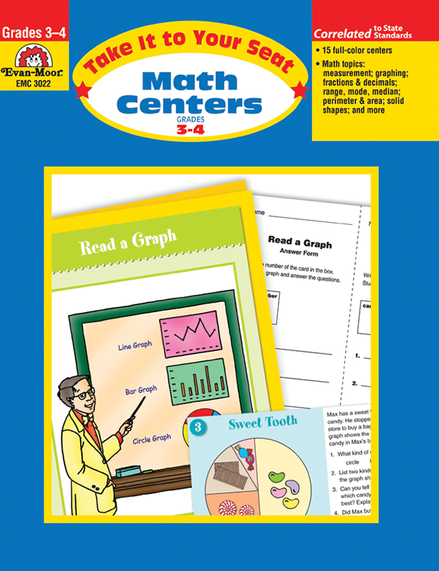 Picture of Take It To Your Seat: Math Centers, Grades 3-4 E-book