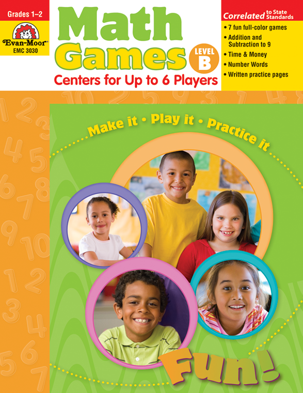 Picture of Math Games: Centers for Up to 6 Players, Grades 1-2 (Level B)- Teacher Resource, E-book