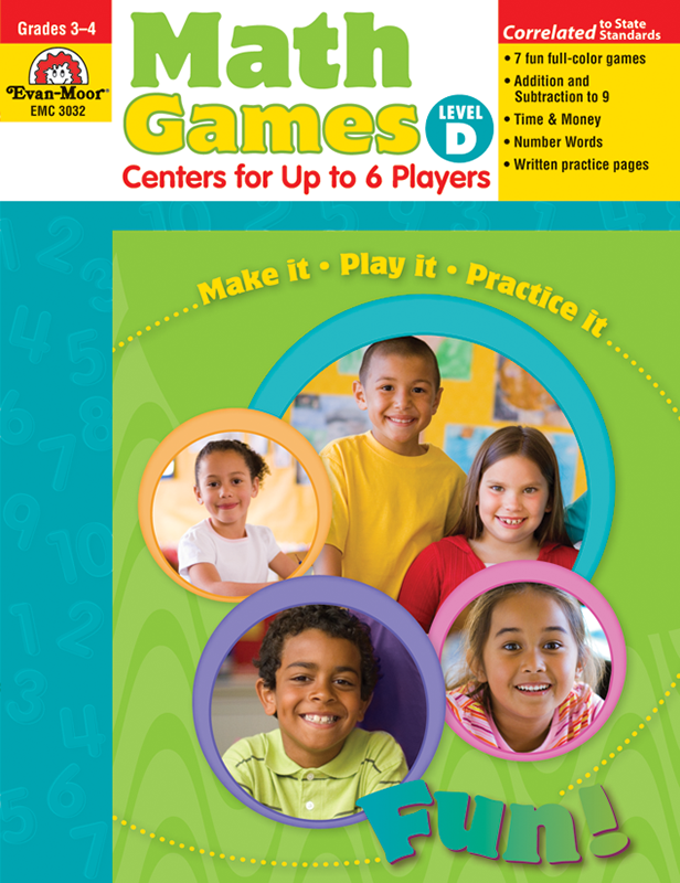 Picture of Math Games: Centers for Up to 6 Players, Grades 3-4 (Level D)- Teacher Resource, E-book
