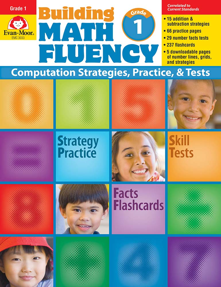 Picture of Building Math Fluency, Grade 1 - Teacher Reproducibles, Print