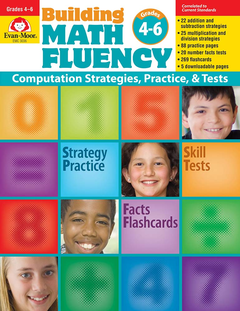 Picture of Building Math Fluency, Grades 4-6+ - Teacher Reproducibles, Print