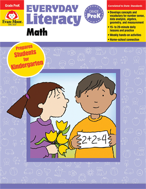 Picture of Everyday Literacy: Math, Grade PreK  - Teacher Reproducibles, Print