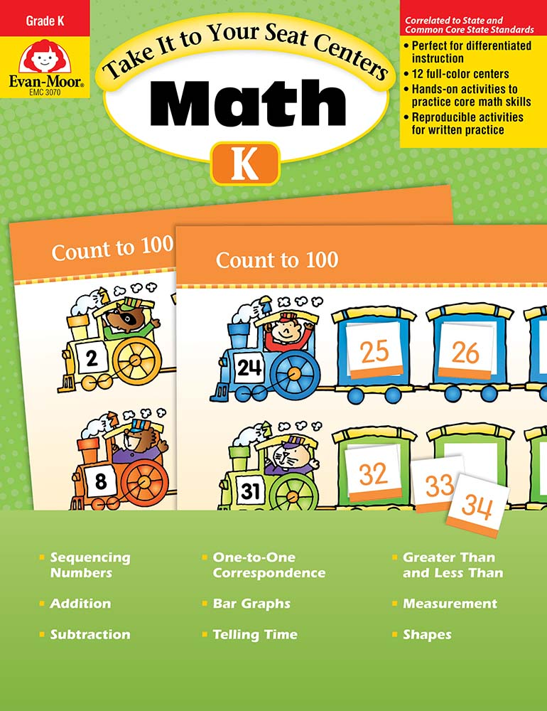 Picture of Take It to Your Seat: Math Centers, Grade K - Teacher Resource, Print