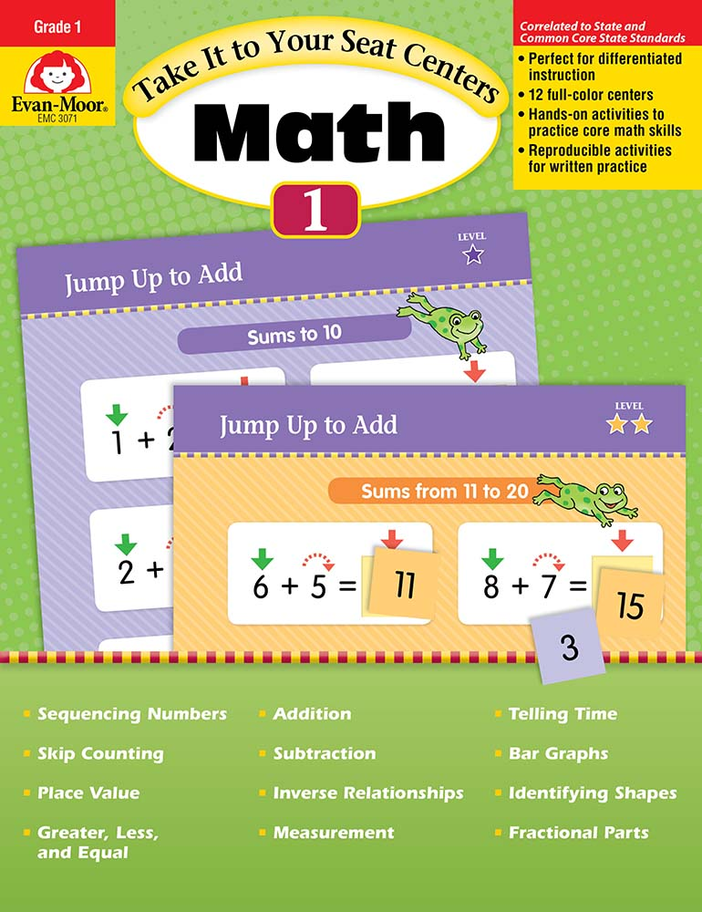 Picture of Take It to Your Seat: Math Centers, Grade 1 - Teacher Reproducibles, Print
