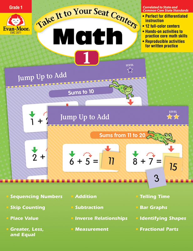 Picture of Take It to Your Seat: Math Centers, Grade 1 - Teacher Reproducibles, E-book
