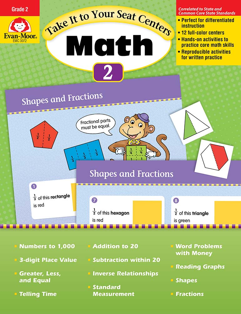 Picture of Take It to Your Seat: Math Centers, Grade 2 - Teacher Reproducibles, Print