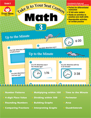 Picture of Take It to Your Seat: Math Centers, Grade 3 - Teacher Reproducibles, Print