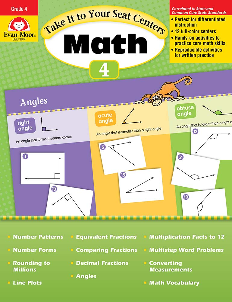Picture of Take It to Your Seat: Math Centers, Grade 4 - Teacher Reproducibles, Print