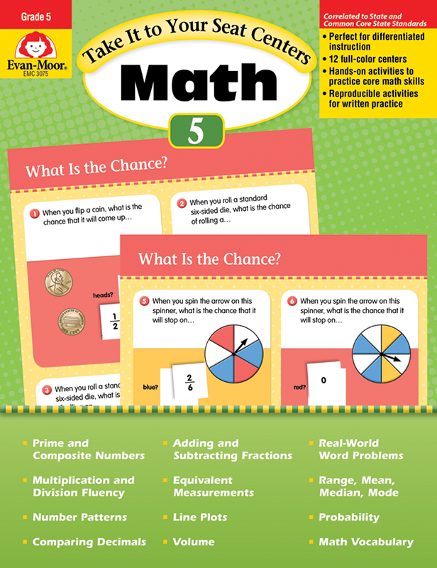 Picture of Take It to Your Seat: Math Centers, Grade 5 - Teacher Reproducibles, E-book