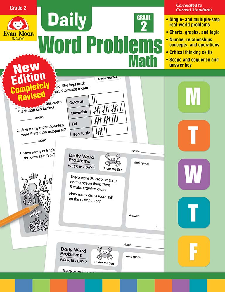 Picture of Daily Word Problems, Grade 2 - Teacher's Edition, Print