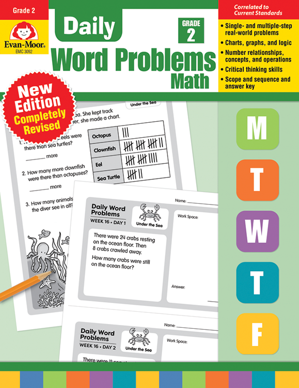 Picture of Daily Word Problems, Grade 2 - Teacher's Edition, E-book