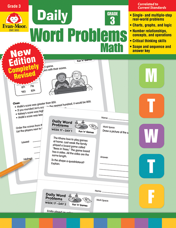 Picture of Daily Word Problems, Grade 3 - Teacher's Edition, E-book