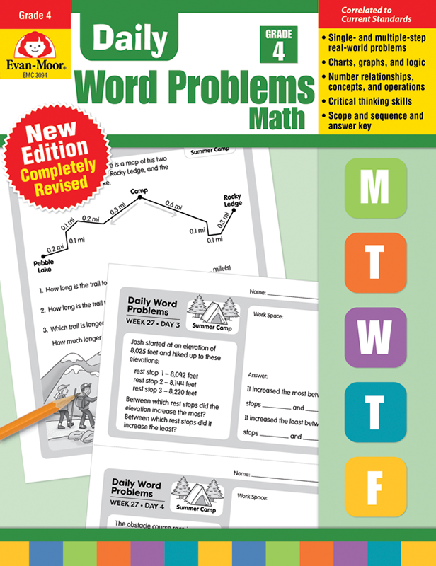 Picture of Daily Word Problems, Grade 4 - Teacher's Edition, E-book
