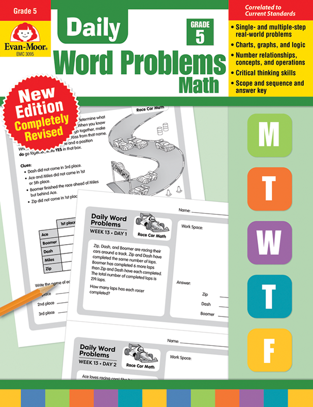 Picture of Daily Word Problems, Grade 5 - Teacher's Edition, E-book