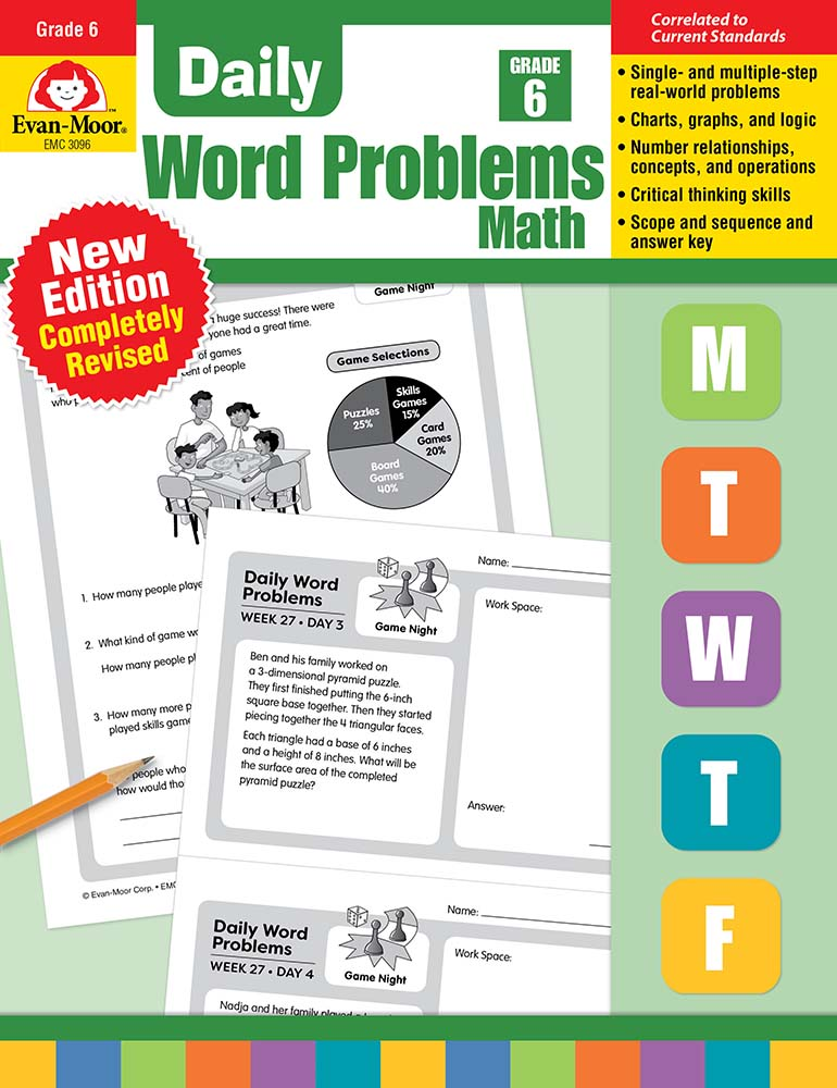 Picture of Daily Word Problems, Grade 6 - Teacher's Edition, Print