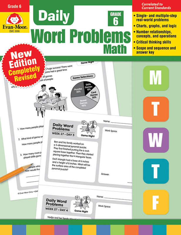 Picture of Daily Word Problems, Grade 6 - Teacher's Edition, E-book
