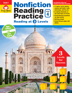 Picture of Nonfiction Reading Practice, Grade 4 - Teacher Reproducibles, E-book