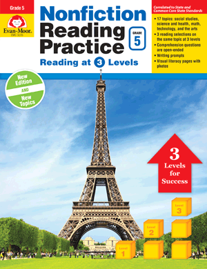 Picture of Nonfiction Reading Practice, Grade 5 - Teacher Reproducibles, E-book