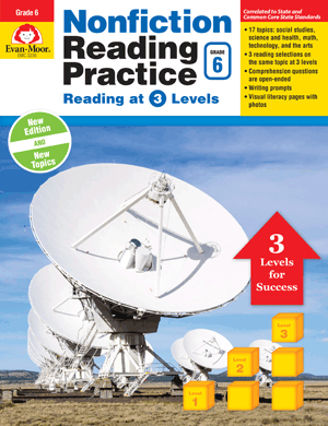 Picture of Nonfiction Reading Practice, Grade 6 - Teacher Reproducibles, E-book