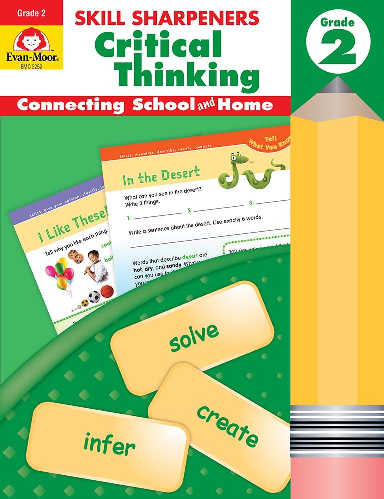 Picture of Skill Sharpeners: Critical Thinking, Grade 2 - Activity Book