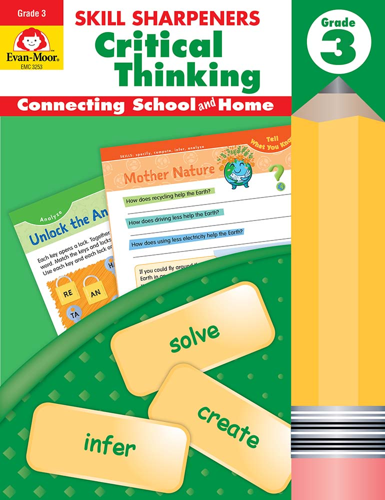 Picture of Skill Sharpeners: Critical Thinking, Grade 3 - Activity Book