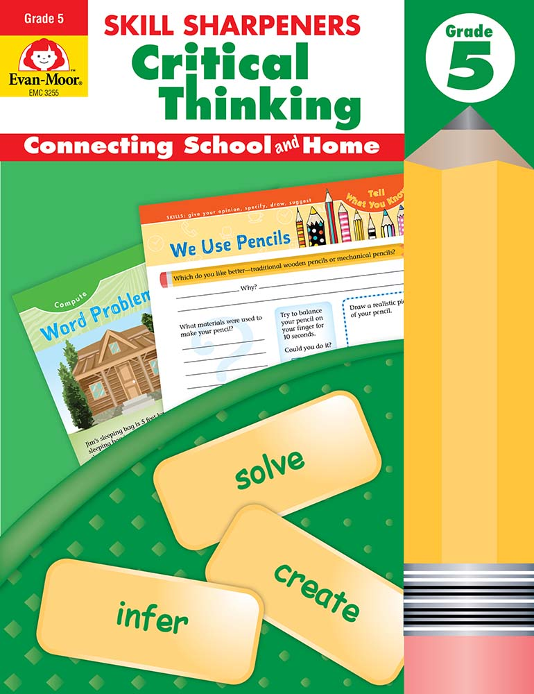 Picture of Skill Sharpeners: Critical Thinking, Grade 5- Activity Book